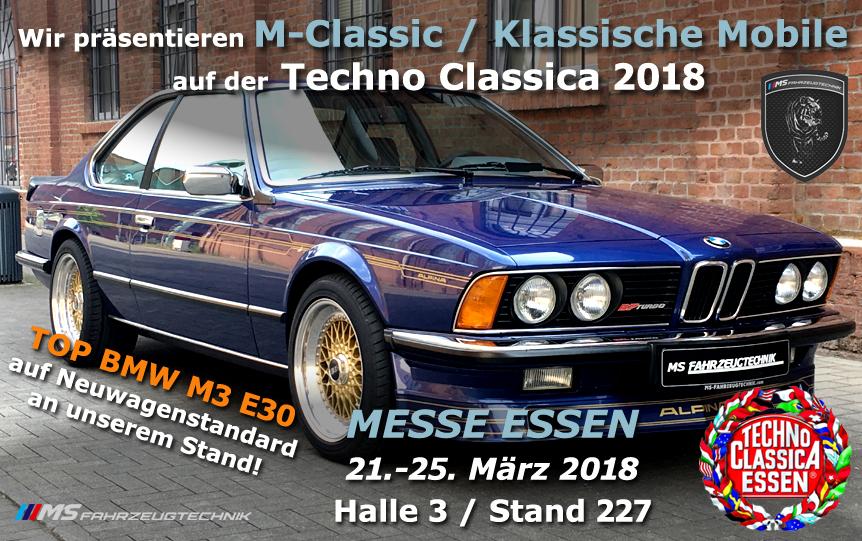 MS Fahrzeugtechnik auf derTechno Classica 2018